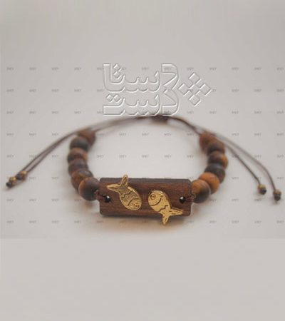 دستبند چوب و سنگ
