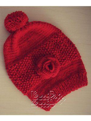 کلاه بافتنی قرمز 4