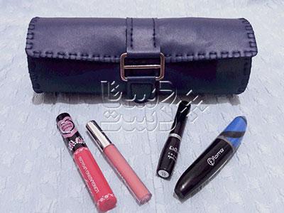 کیف لوازم آرایش چرمی