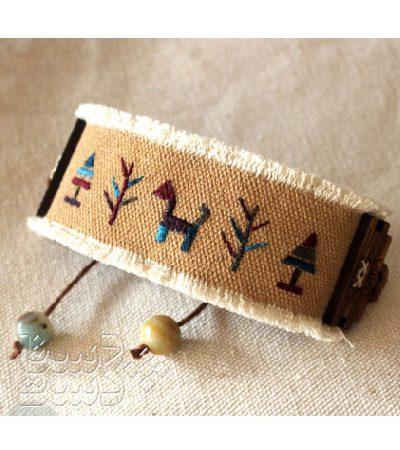 دستبند پارچه ای سوزندوزی