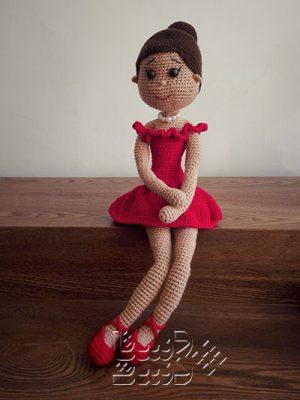عروسک بافتنی بالرین