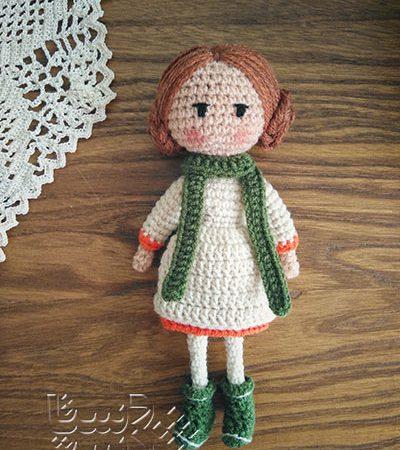 عروسک بافتنی کمندبانو