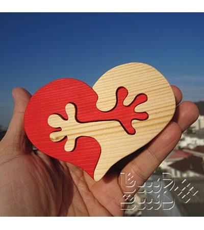 قلب دوتکه چوبی