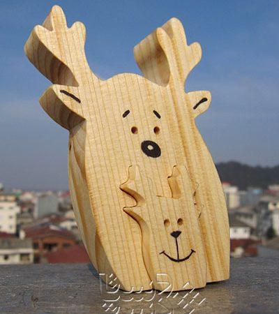 گوزن چوبی