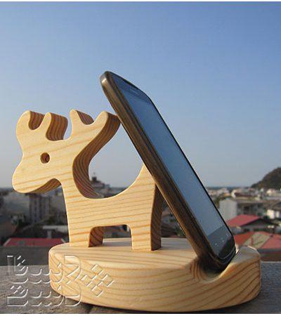 پایه موبایل گوزن چوبی
