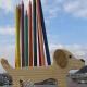 جامدادی سگ چوبی
