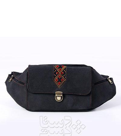 کیف کمری چرم طبیعی و سوزندوزی