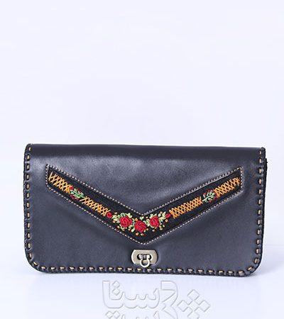 کیف دستی چرم طبیعی و سوزندوزی