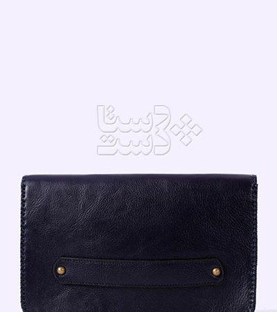 کیف دستی چرم طبیعی با سوزندوزی بلوچ