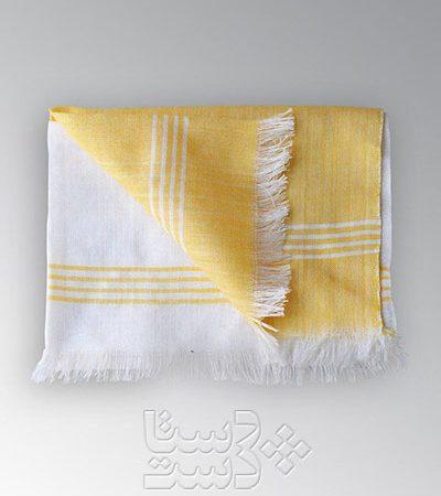 حوله زرد و سفید نخی کوچک
